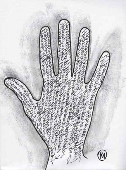 Handwriting by Kevan Manwaring